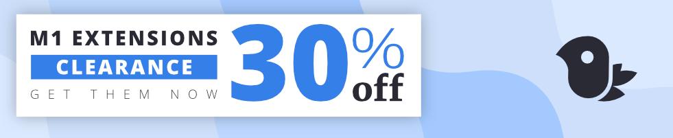 30 % off